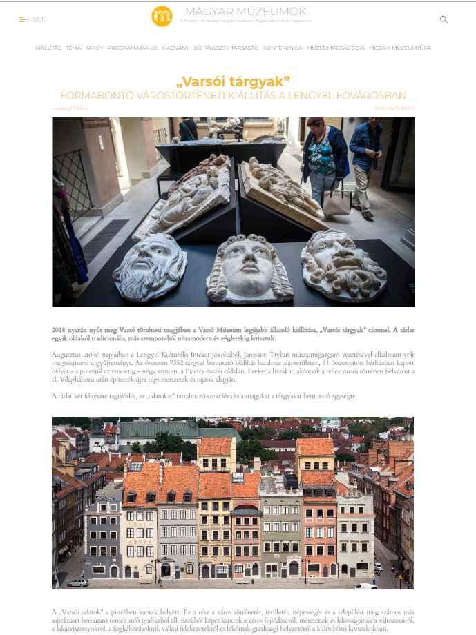 Magyar Múzeumok Online A Pulszky Társaság – Magyar Múzeumi