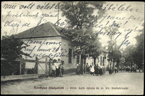 Alsópél Római katolikus iskola és m. kir. postahivatal