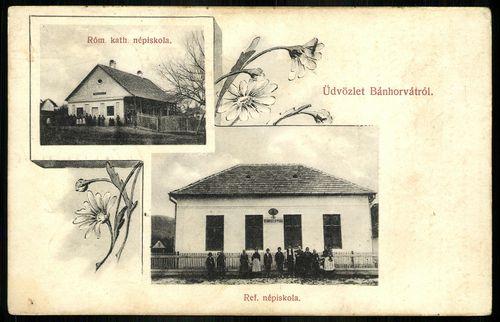 Bánhorvát római katolikus népiskola. Református népiskola