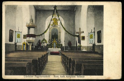 Fegyvernek római katolikus templom belseje