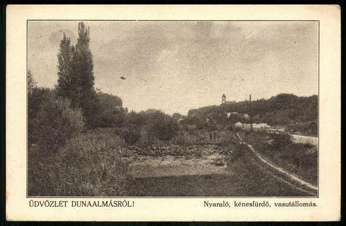 Dunaalmás Nyaraló, kénes fürdő, vasútállomás