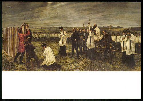 Aradi vértanúk; Thorma János tizenhárom aradi vértanú (litográfia az eredeti műről)