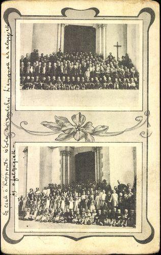 A ditrói központi róm. kat. elemi iskola növendékei az 1913-14. évben