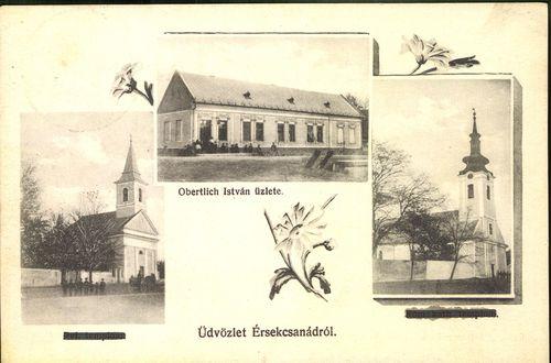Üdvözlet Érsekcsanádról; Obertlich István üzlete