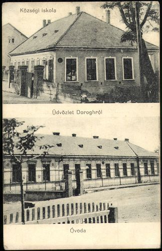 Üdvözlet Dorogról; Községi iskola; Óvoda