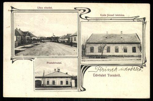 Torna Utcarészlet. Postahivatal. Koós József lakháza
