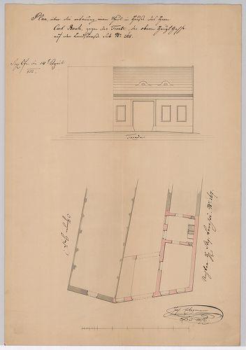 földszintes épület utcai szárnyának kiépítése [HU BFL - XV.17.a.302 - 78]