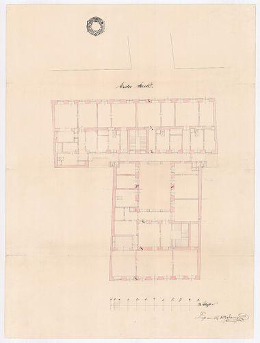 Unger Henrik bérháza. Első emeleti alaprajz. [HU BFL - XV.17.b.311 - 15044/c]