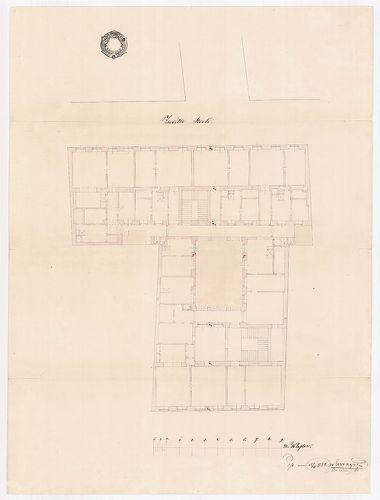 Unger Henrik bérháza. Második emeleti alaprajz. [HU BFL - XV.17.b.311 - 15044/d]