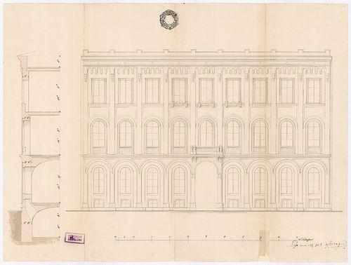 Unger Henrik bérháza. Az épület Múzeum körúti homlokzata és ... [HU BFL - XV.17.b.311 - 15044/e]