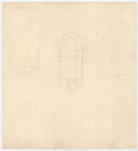 Római katolikus templom és plébánia. A templomegyüttes végle... [HU BFL - XV.17.f.331.b - 4/16]
