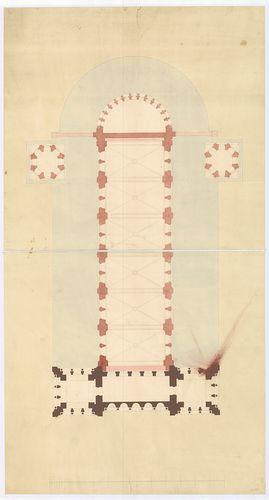Római katolikus templom és plébánia. A templom alaprajza az ... [HU BFL - XV.17.f.331.b - 4/17]