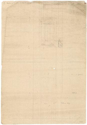 Római katolikus templom és plébánia. Kő ablakfél részletének... [HU BFL - XV.17.f.331.b - 4/228]