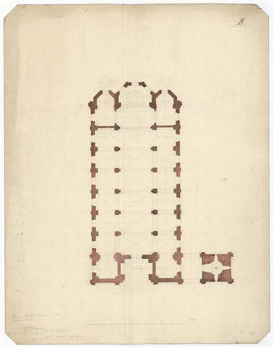 Római katolikus templom. B változat alaprajza. [HU BFL - XV.17.f.331.b - 13/5]