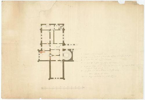 Zichy Pál gróf kastélya (Anna-vár). A földszint átalakítása,... [HU BFL - XV.17.f.331.b - 14/2]