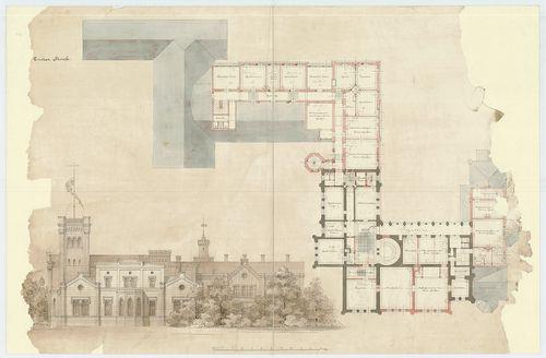 Zichy Pál gróf kastélya (Anna-vár). Emeleti alaprajz a bővít... [HU BFL - XV.17.f.331.b - 14/8]