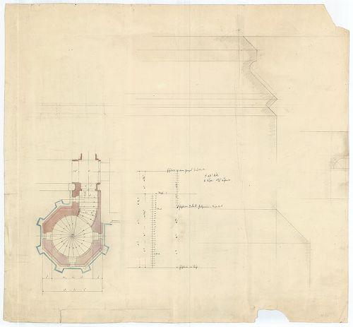 Zichy Pál gróf kastélya (Anna-vár). Lépcsőtorony alaprajza, ... [HU BFL - XV.17.f.331.b - 14/10]