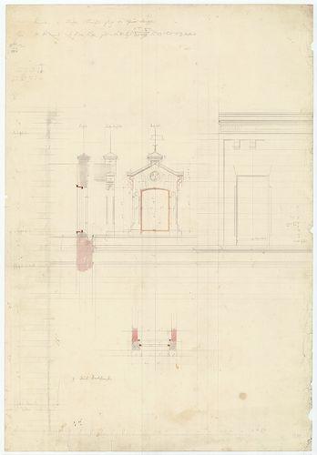 Zichy Pál gróf kastélya (Anna-vár). Tetőablak metszete, elől... [HU BFL - XV.17.f.331.b - 14/14]