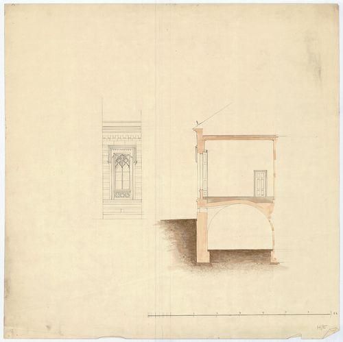Zichy Pál gróf kastélya (Anna-vár). Homlokzatrészlet ablakka... [HU BFL - XV.17.f.331.b - 14/15]
