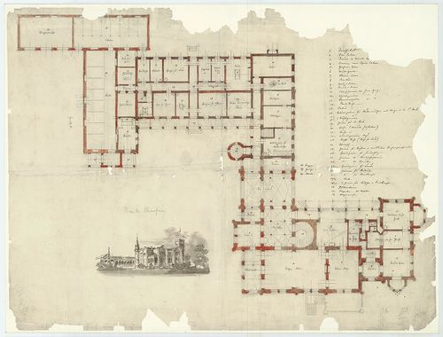 Zichy Pál gróf kastélya (Anna-vár). A bővített épületegyütte... [HU BFL - XV.17.f.331.b - 14/26]