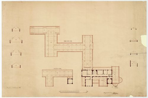 Zichy Pál gróf kastélya (Anna-vár). Toldaléképület terve. [HU BFL - XV.17.f.331.b - 14/30]