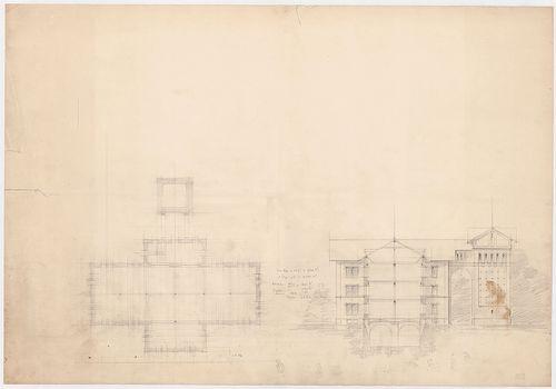 Wenckheim-magtár. Magtár, tervváltozat. [HU BFL - XV.17.f.331.b - 15/3]