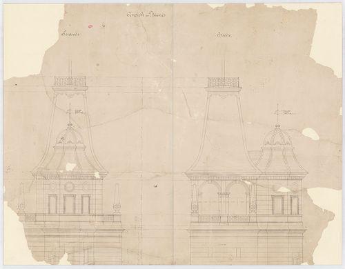 Wenckheim Frigyes gróf kastélya. A kilátótorony északi és ke... [HU BFL - XV.17.f.331.b - 20/2]