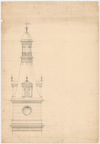 Wenckheim Frigyes gróf kastélya. Kerek torony legfelső szint... [HU BFL - XV.17.f.331.b - 20/3]
