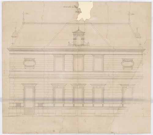 Wenckheim Frigyes gróf kastélya. Északi homlokzat a konyha f... [HU BFL - XV.17.f.331.b - 20/4]