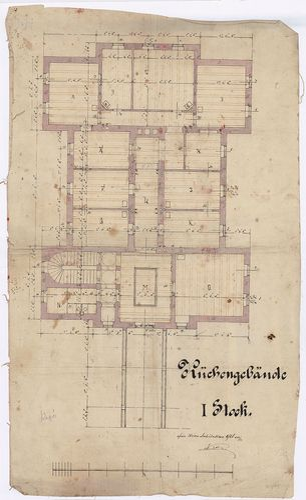 Wenckheim Frigyes gróf kastélya. Konyhaépület emeleti alapra... [HU BFL - XV.17.f.331.b - 20/15]