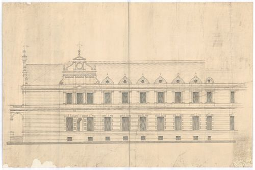 Wenckheim Frigyes gróf kastélya. Kastély főhomlokzatának fel... [HU BFL - XV.17.f.331.b - 20/20]