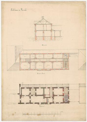 Károlyi-kastély. Földszinti átalakítás, emeletráépítés. [HU BFL - XV.17.f.331.b - 21/4]