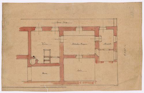 Károlyi-kastély. Földszintes szárny alaprajzi részlete. [HU BFL - XV.17.f.331.b - 21/7]