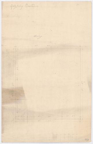 Károlyi-kastély. Alaprajzi felmérés, konyha. [HU BFL - XV.17.f.331.b - 21/9]