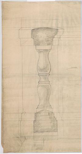 Károlyi-kastély. Erkélymellvéd kőbábok részlete. [HU BFL - XV.17.f.331.b - 21/12]