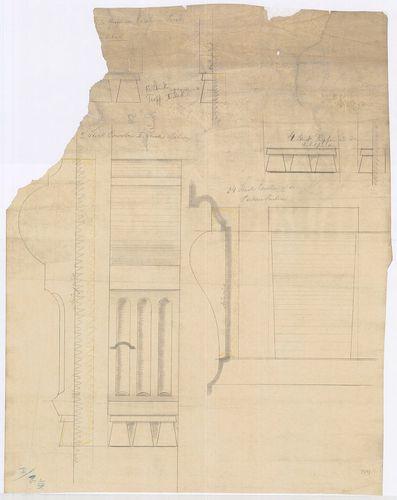 Károlyi-kastély. Erkélykonzol és ablakpárkány részlete. [HU BFL - XV.17.f.331.b - 21/14]