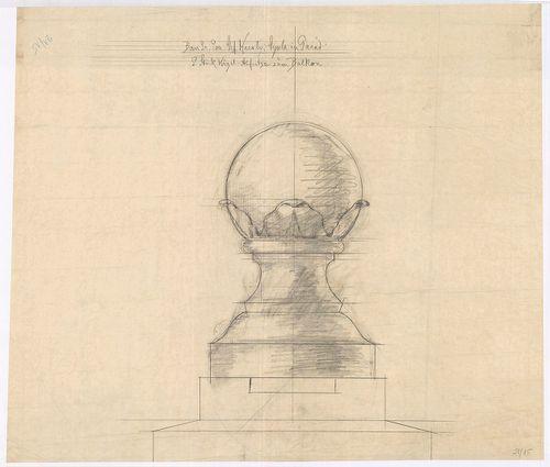 Károlyi-kastély. Két erkélymellvédre helyezendő kőgolyó néze... [HU BFL - XV.17.f.331.b - 21/15]