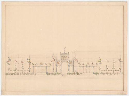 Diadalkapu, pavilon. Homlokzat a Duna felől. [HU BFL - XV.17.f.331.b - 22/1]