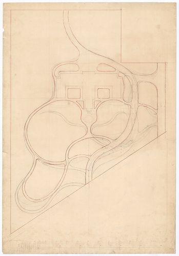Clarisseum gyermekmenhely. A park útjai új utak bejelöléséve... [HU BFL - XV.17.f.331.b - 26/2]