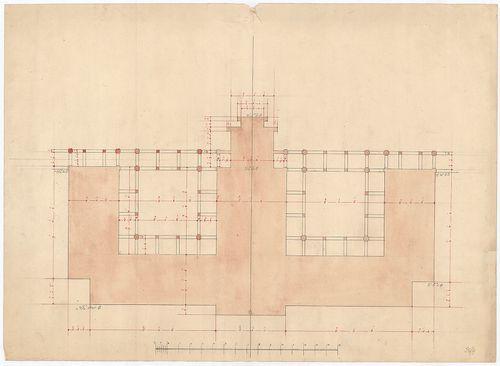 Clarisseum gyermekmenhely. Az épület körvonalai. [HU BFL - XV.17.f.331.b - 26/4]