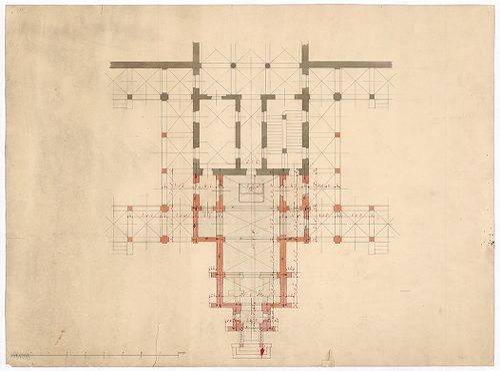 Clarisseum gyermekmenhely. A kápolna alaprajza. [HU BFL - XV.17.f.331.b - 26/6]