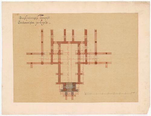 Clarisseum gyermekmenhely. A kápolna alapozási alaprajza. [HU BFL - XV.17.f.331.b - 26/7]