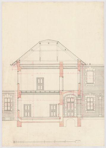 Clarisseum gyermekmenhely. Metszet a középső épületszárnyon ... [HU BFL - XV.17.f.331.b - 26/17]