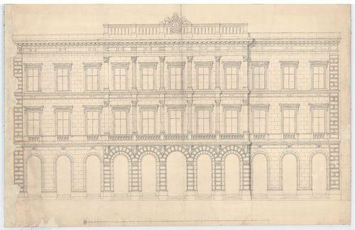 Budai Takarékpénztár székháza. Fő utcai homlokzat. [HU BFL - XV.17.f.331.b - 42/2]