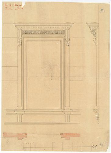 Dlauchy Károly háza. Második emeleti ablak . [HU BFL - XV.17.f.331.b - 43/2]