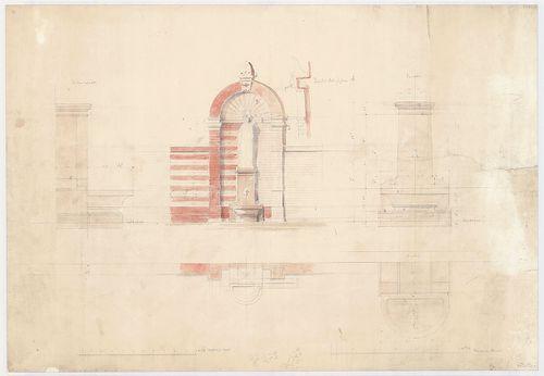 Dlauchy Károly háza. Udvari kő, alakos kút falfülkében. [HU BFL - XV.17.f.331.b - 43/3]