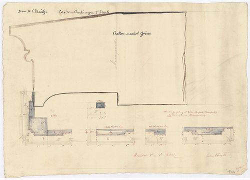 Dlauchy Károly háza. Sarok- és lizénaelemek az első emeleti ... [HU BFL - XV.17.f.331.b - 43/6]