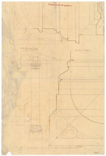 Dlauchy Károly háza. Lépcsőházi oszlopok. [HU BFL - XV.17.f.331.b - 43/8]