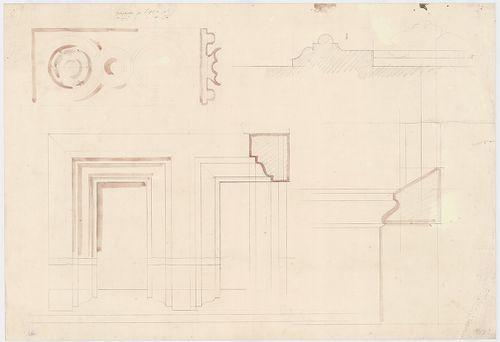 Dlauchy Károly háza. Kőfaragási részletterv, nézet és metsze... [HU BFL - XV.17.f.331.b - 43/9]