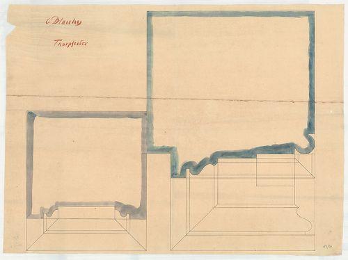 Dlauchy Károly háza. Kapupillér kőfaragási részletterve. [HU BFL - XV.17.f.331.b - 43/10]